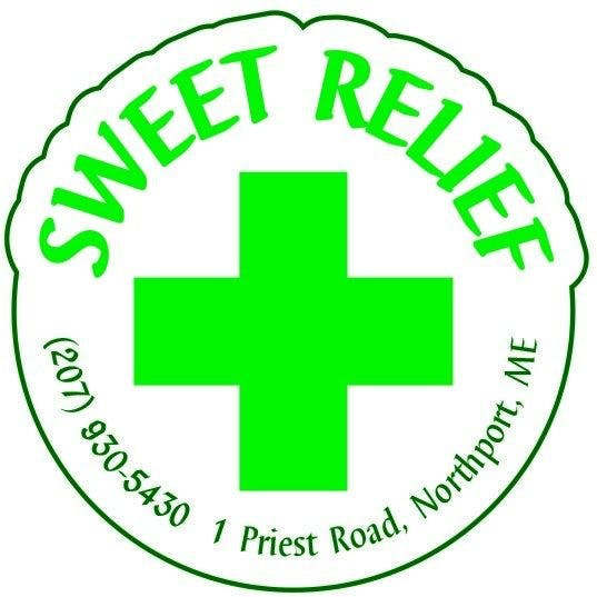 Logo for Sweet Relief Shop, The Maine Marijuana Shop on Route 1