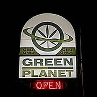 Logo for The Green Planet: CBD Store